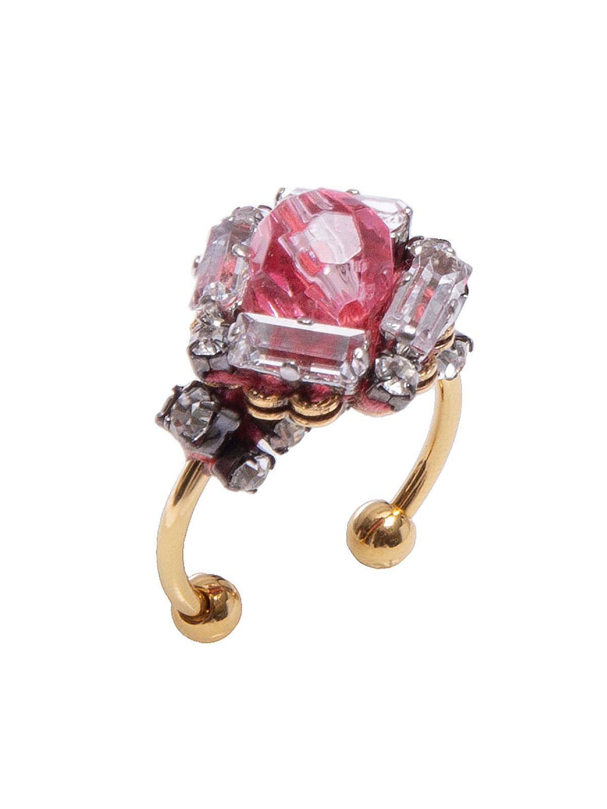 Anello gioiello con perla plexiglass