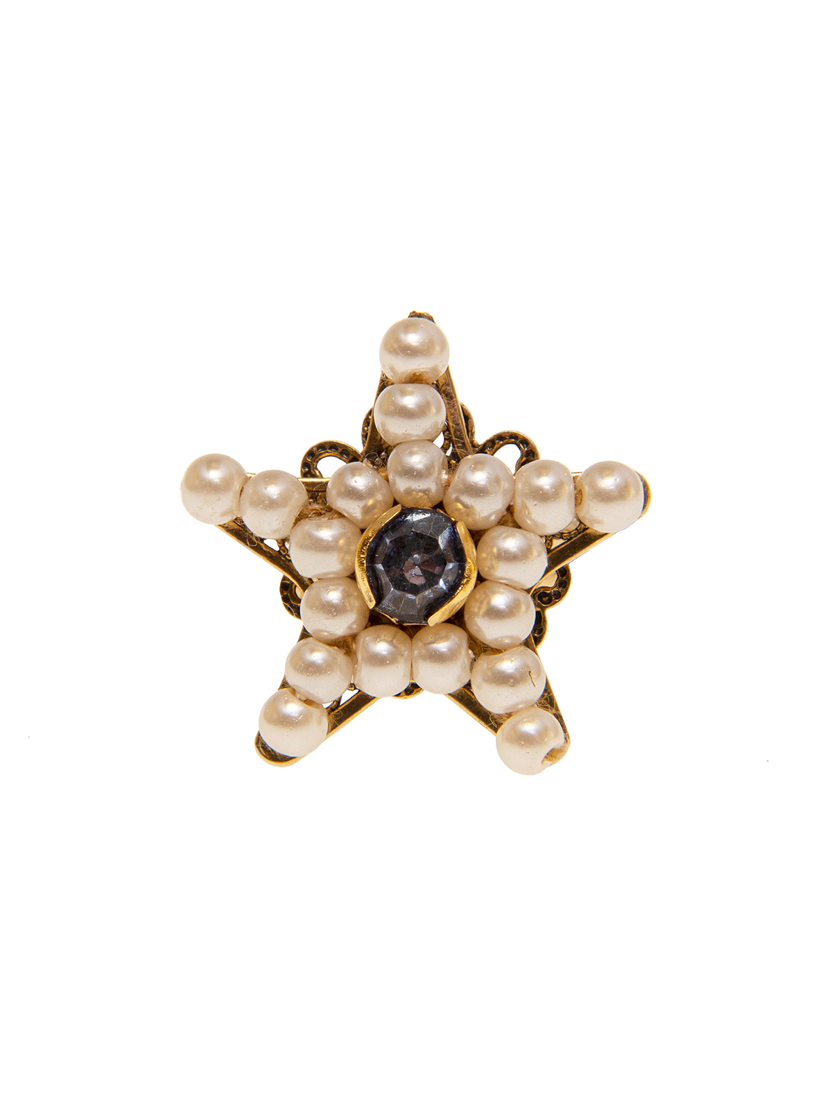 Star ring embellished with small pearls