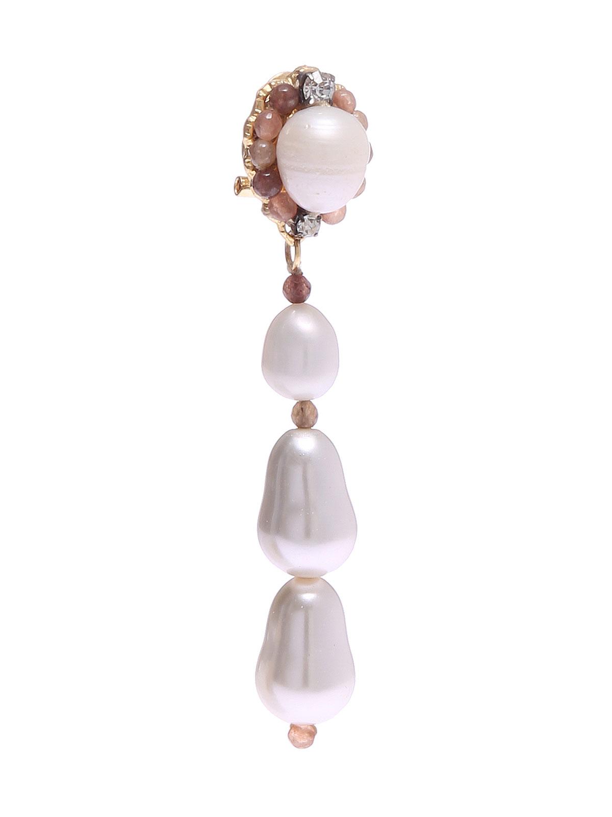 Orecchini con giade e perle di fiume