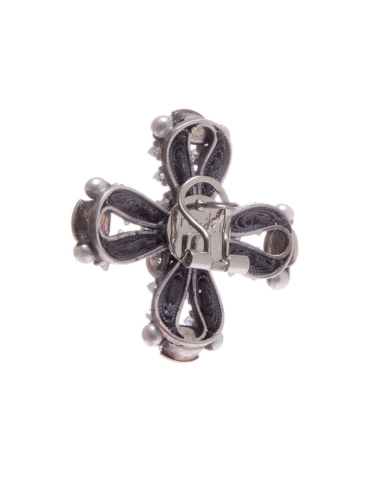 Orecchini a croce con pietre cristallo