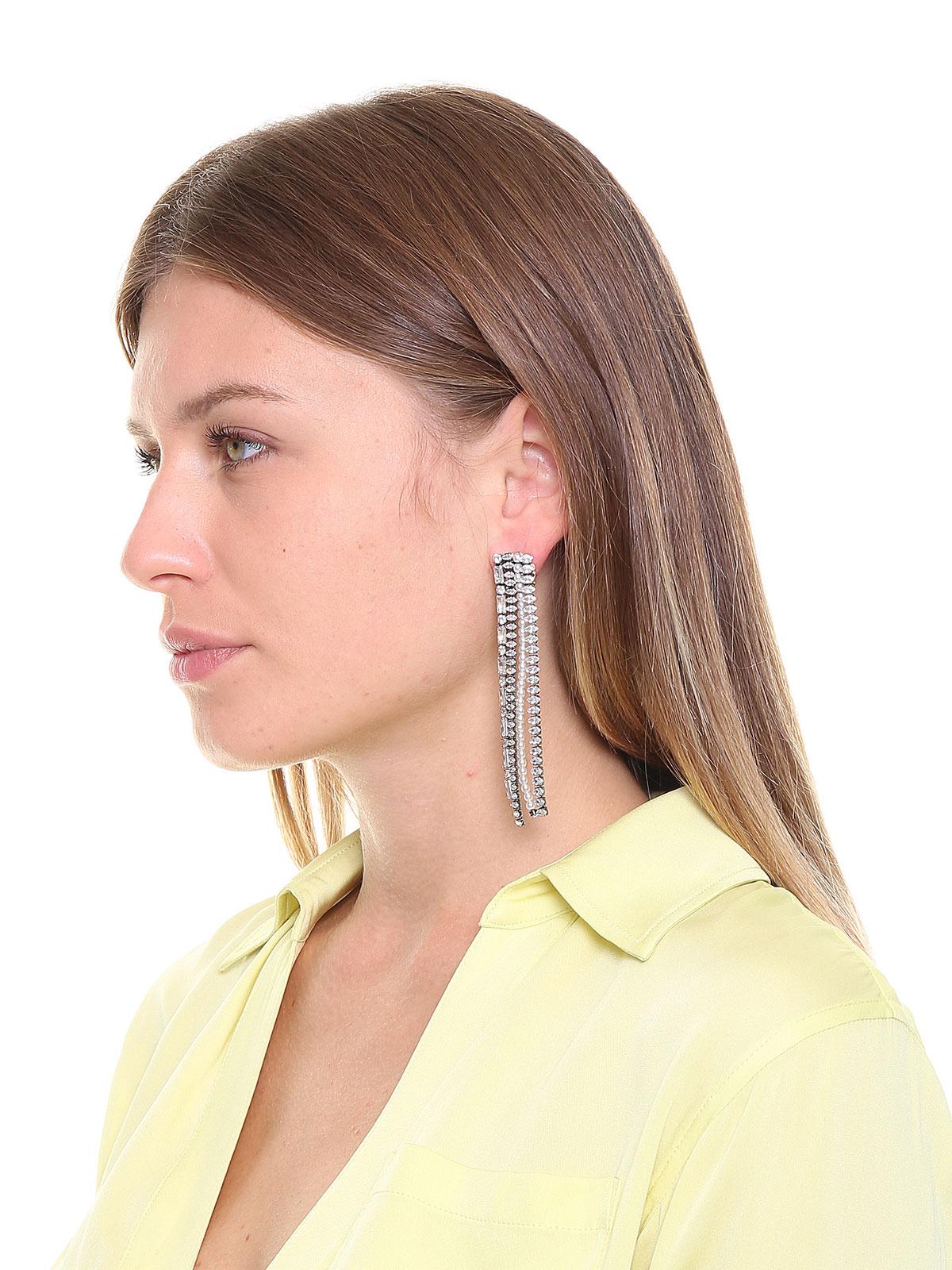 Orecchini con cascata di pietre e perle