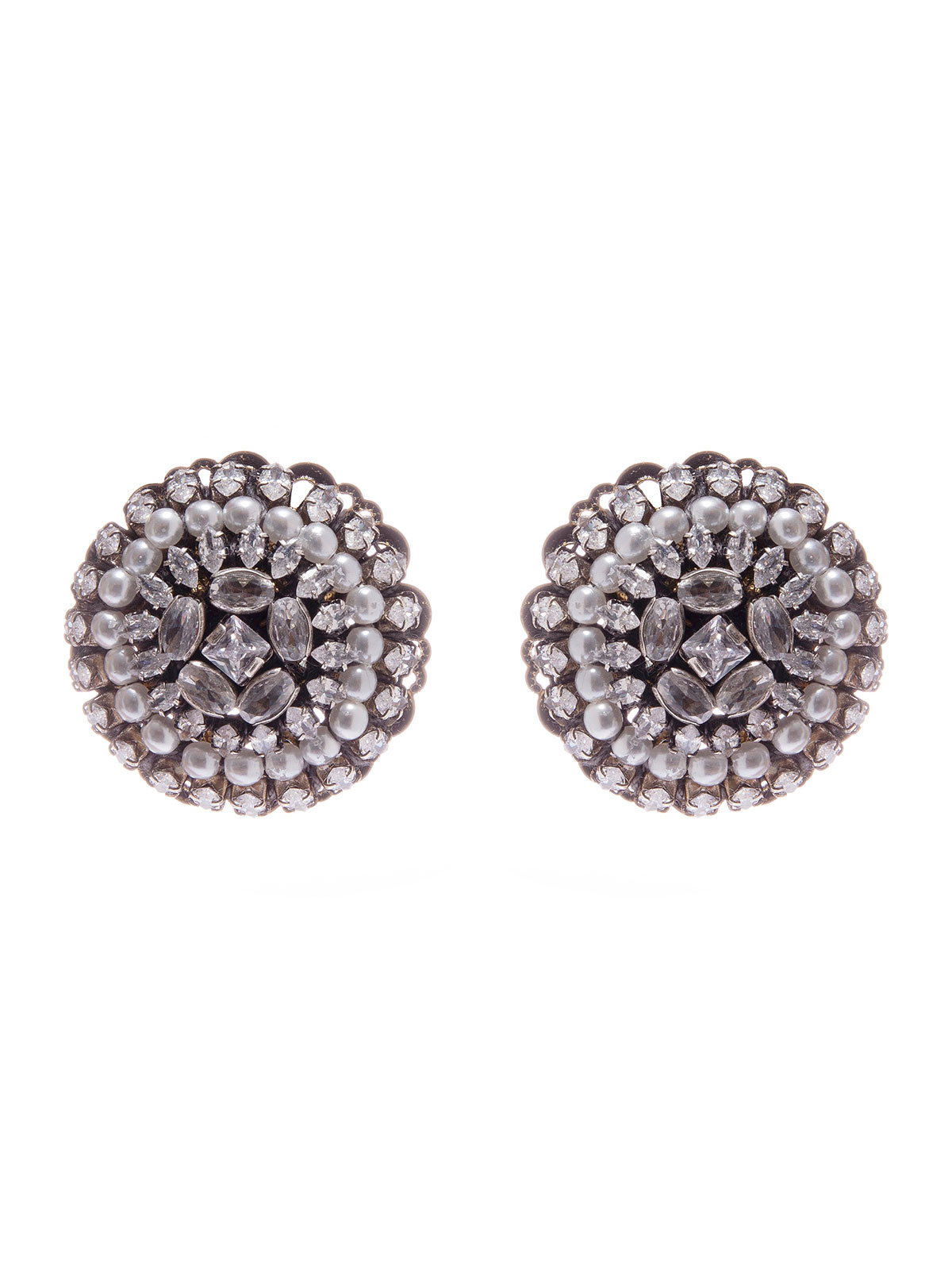 Round crystal earrings