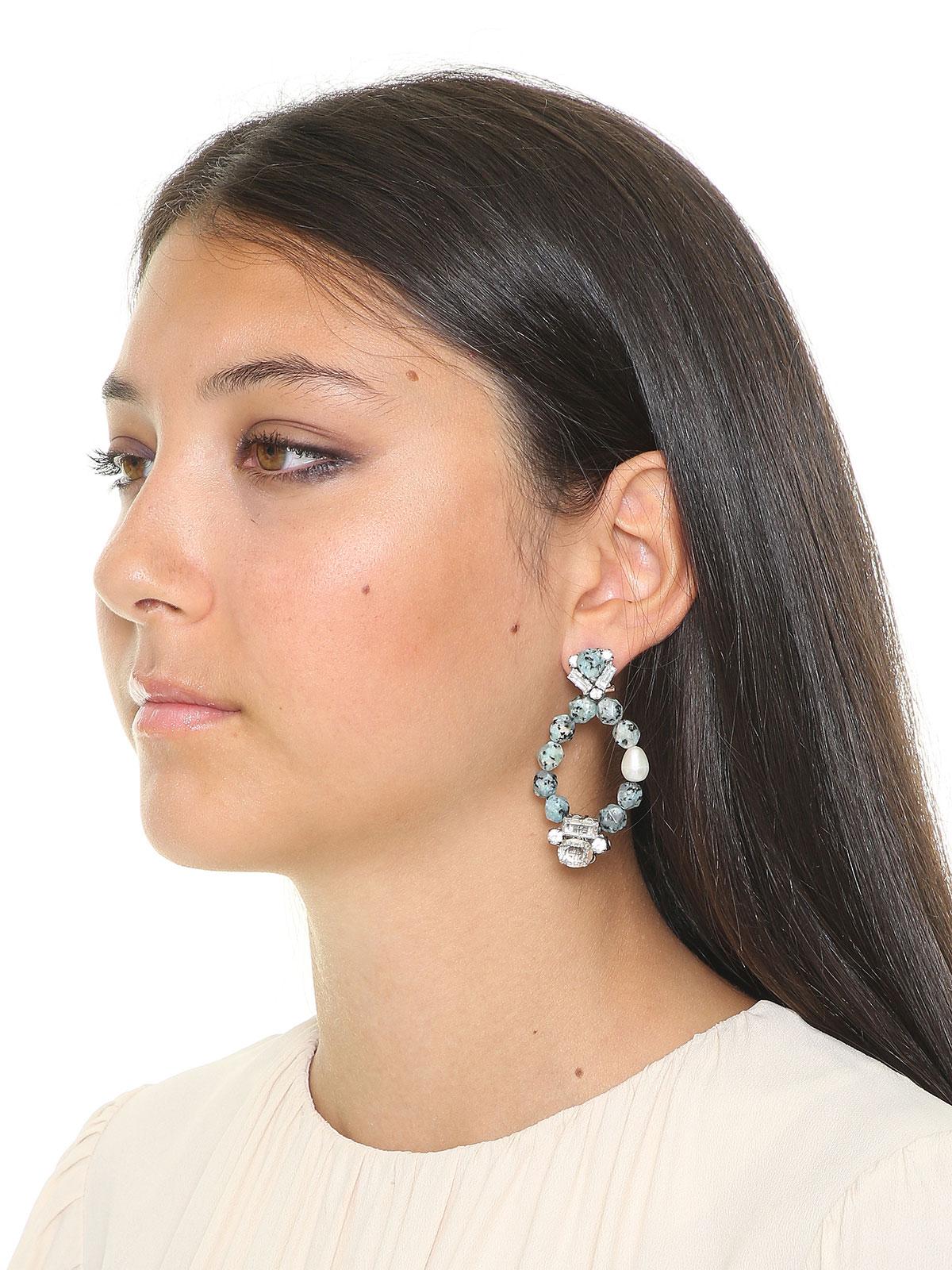 Orecchini con perle di Labradorite