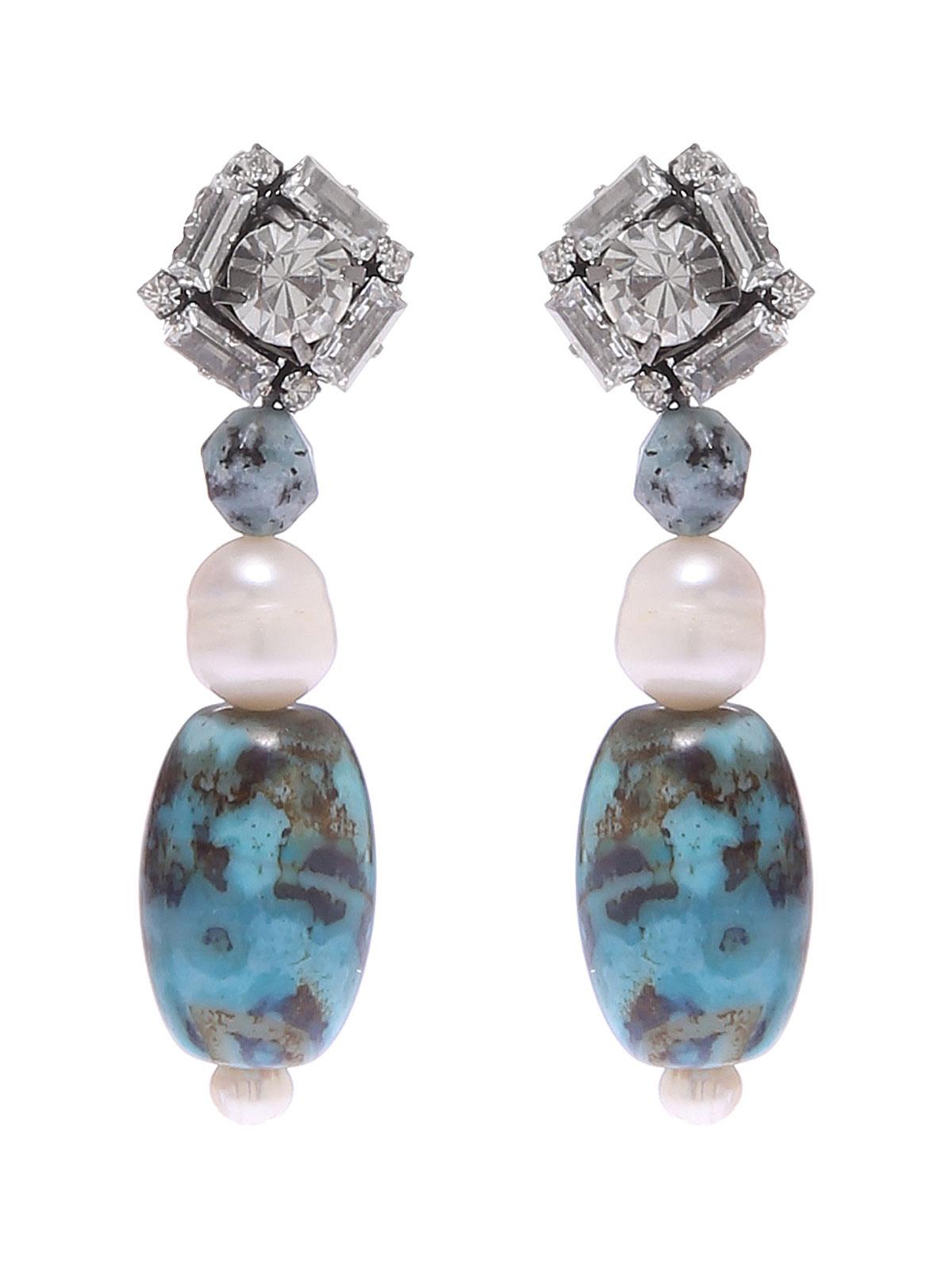 Orecchini con perle di Labradorite.