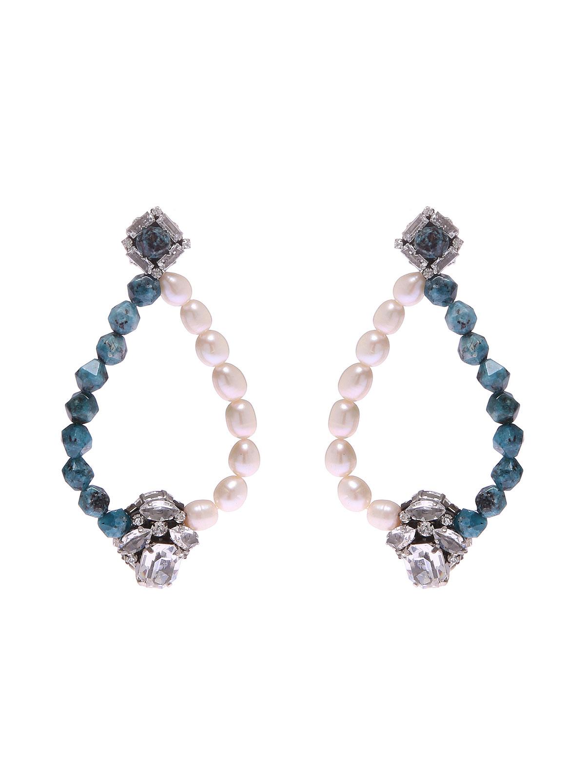 Orecchini con perle di Labradorite e perle di fiume