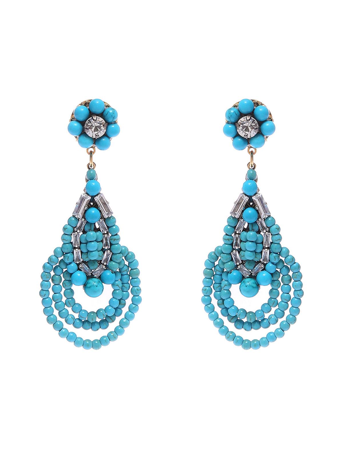 Orecchini di perline in vetro colorato