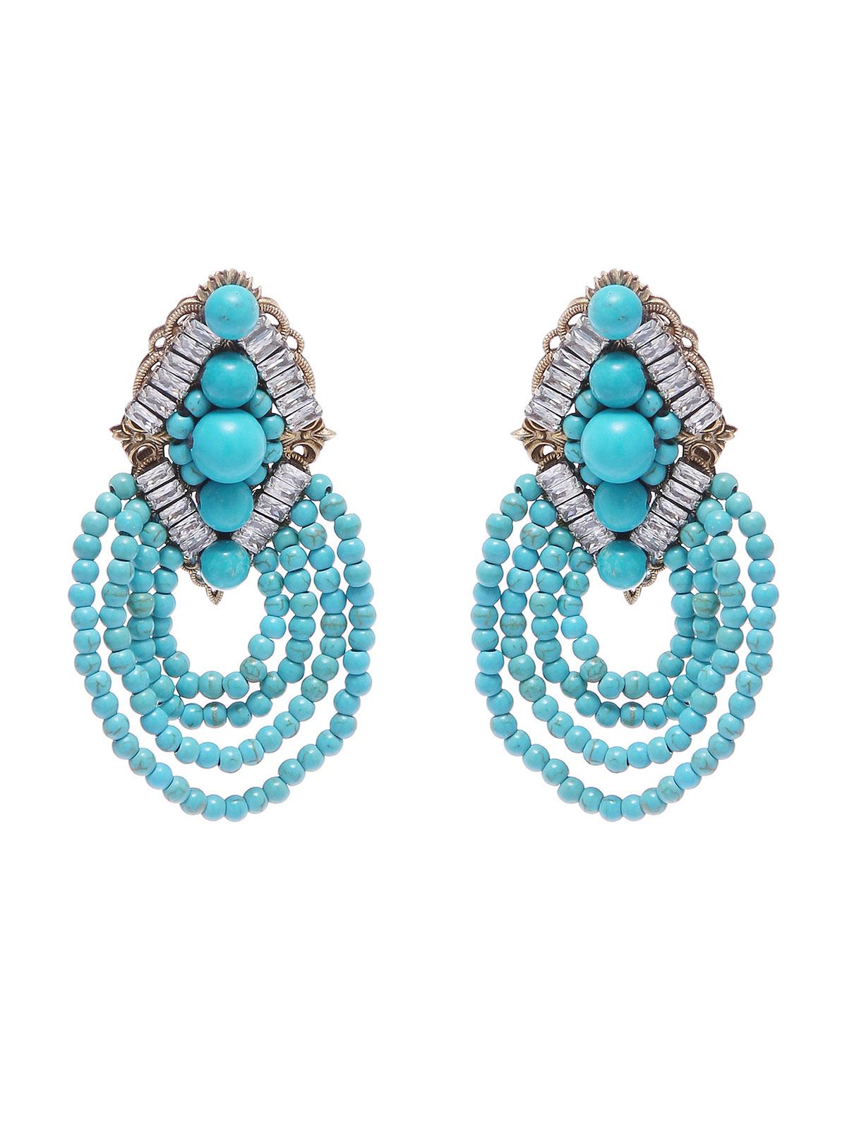 Orecchini con cascata di perline colorate
