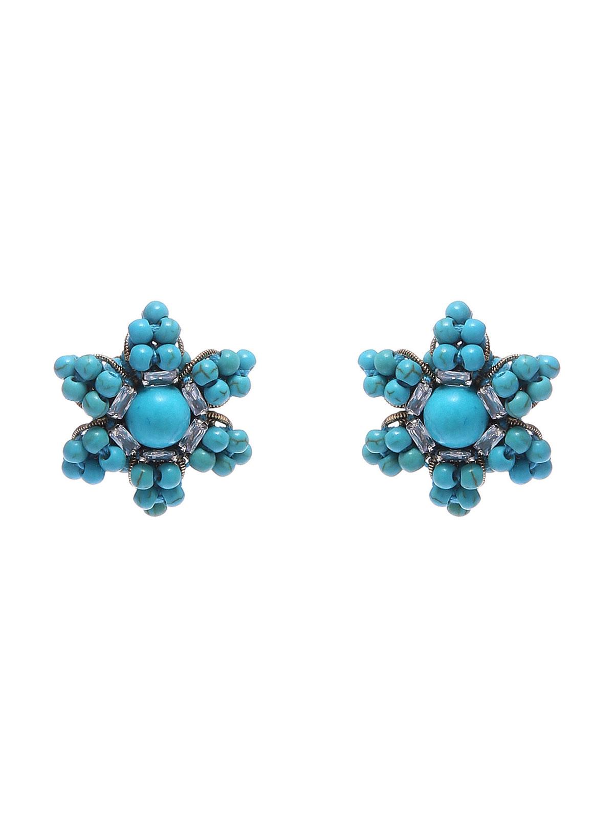 Orecchini floreali con perline in vetro