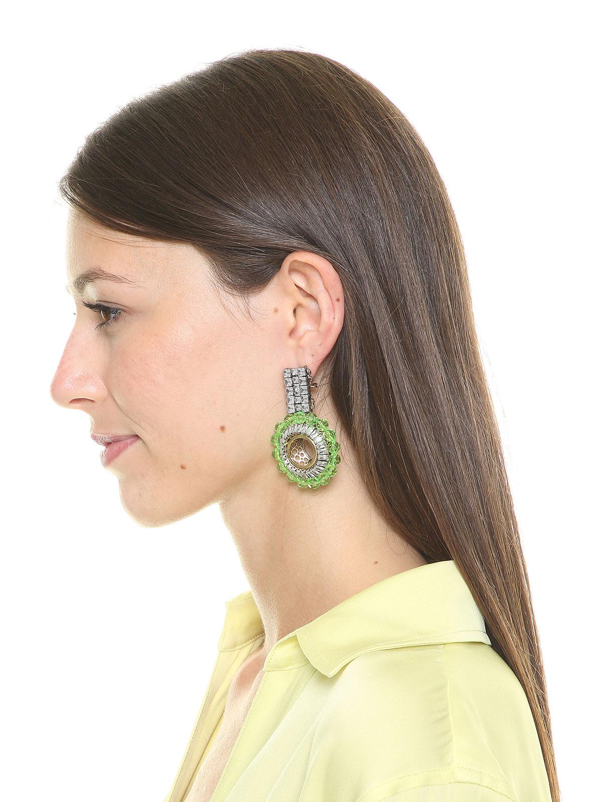 Earrings with plexiglass beads