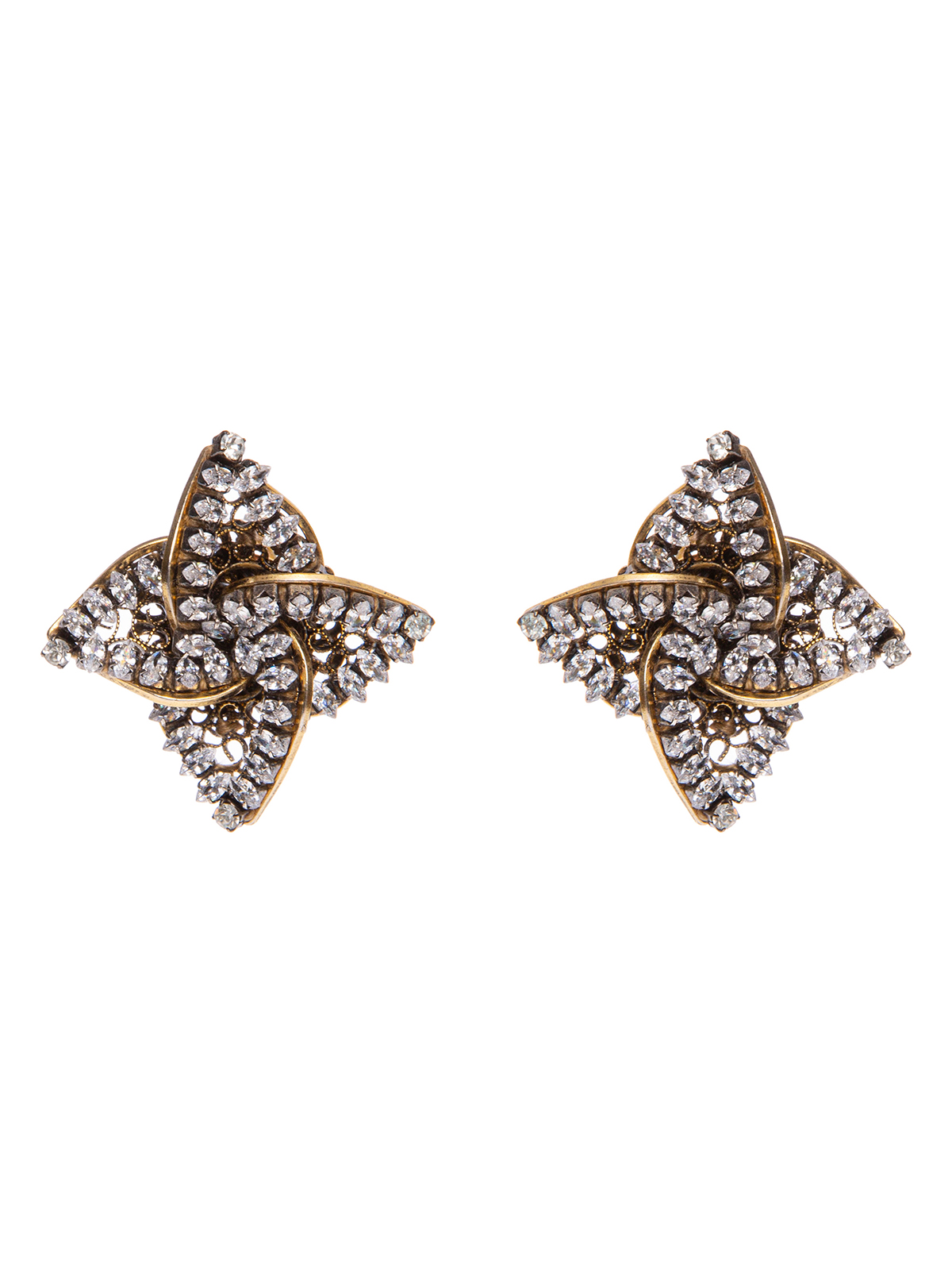 Earrings with  jewel helix-shaped decoration