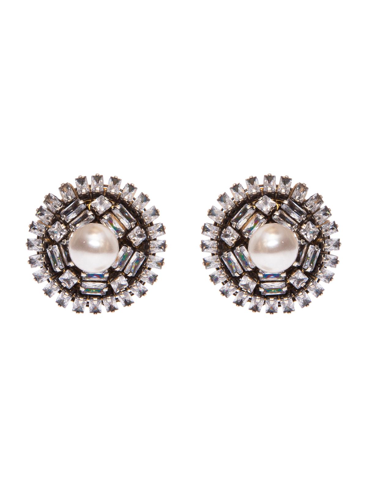 Button jewel earrings