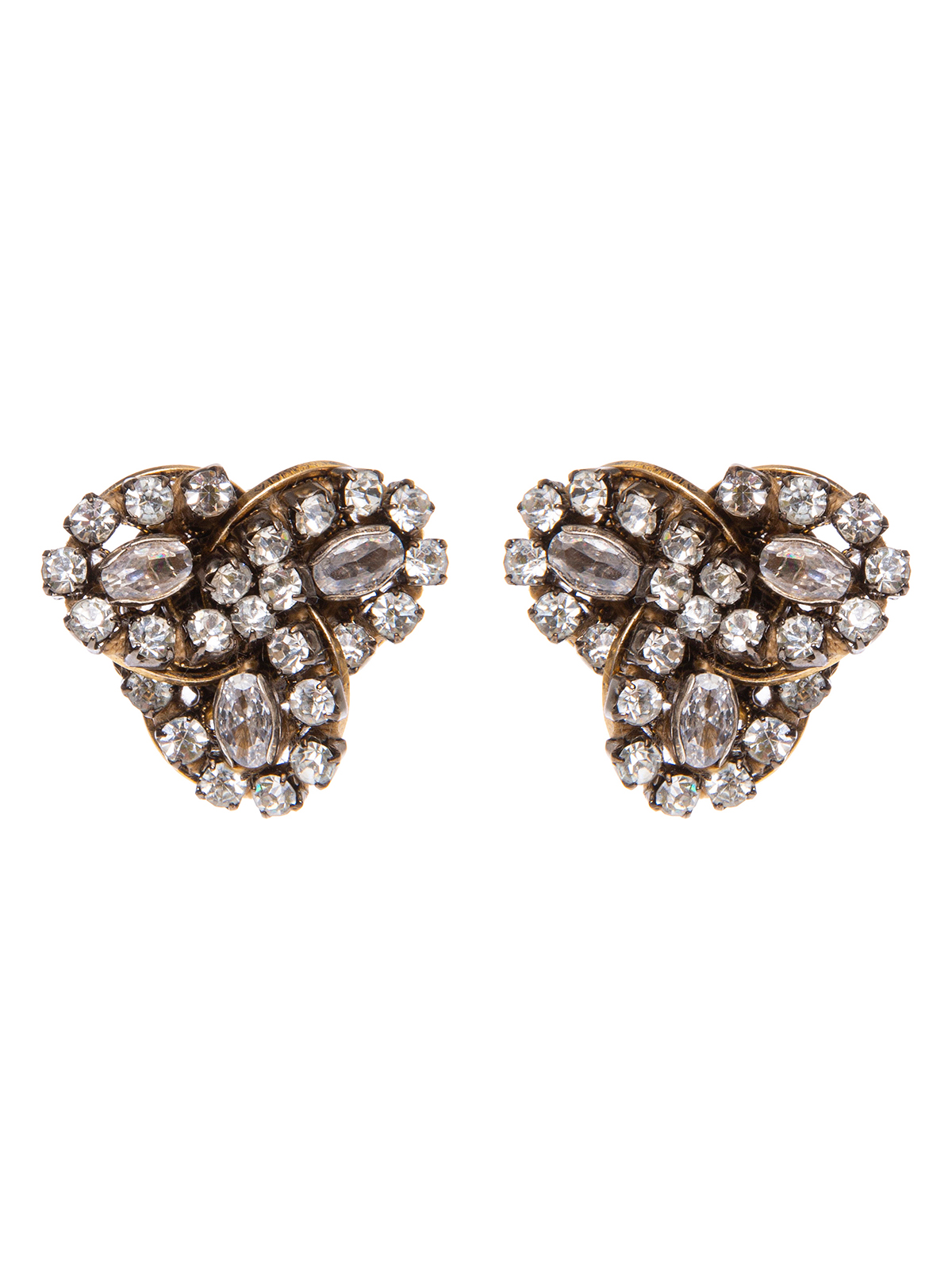 Earrings with crystal petals