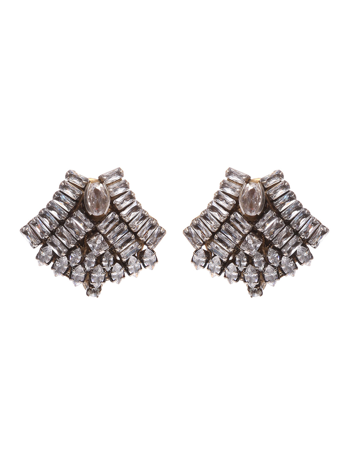 Jewel fan  earrings