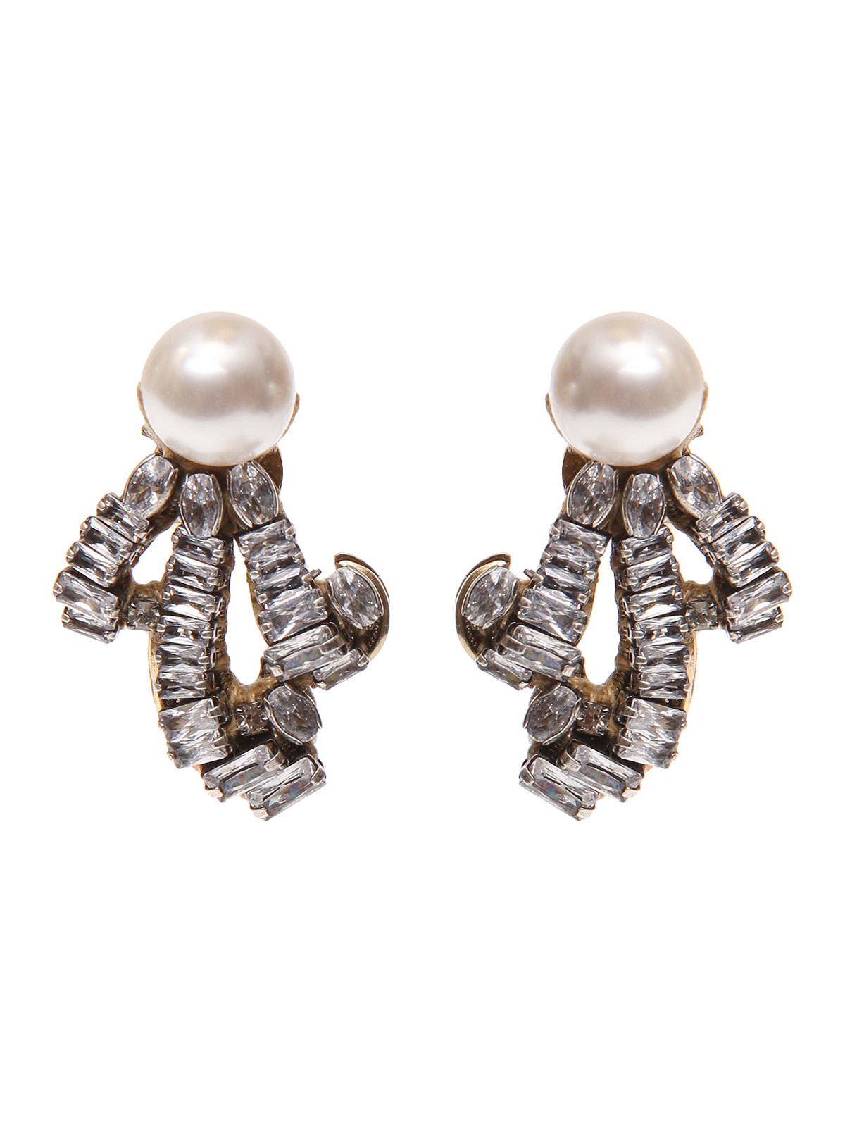 Orecchini di perle e riccioli gioiello