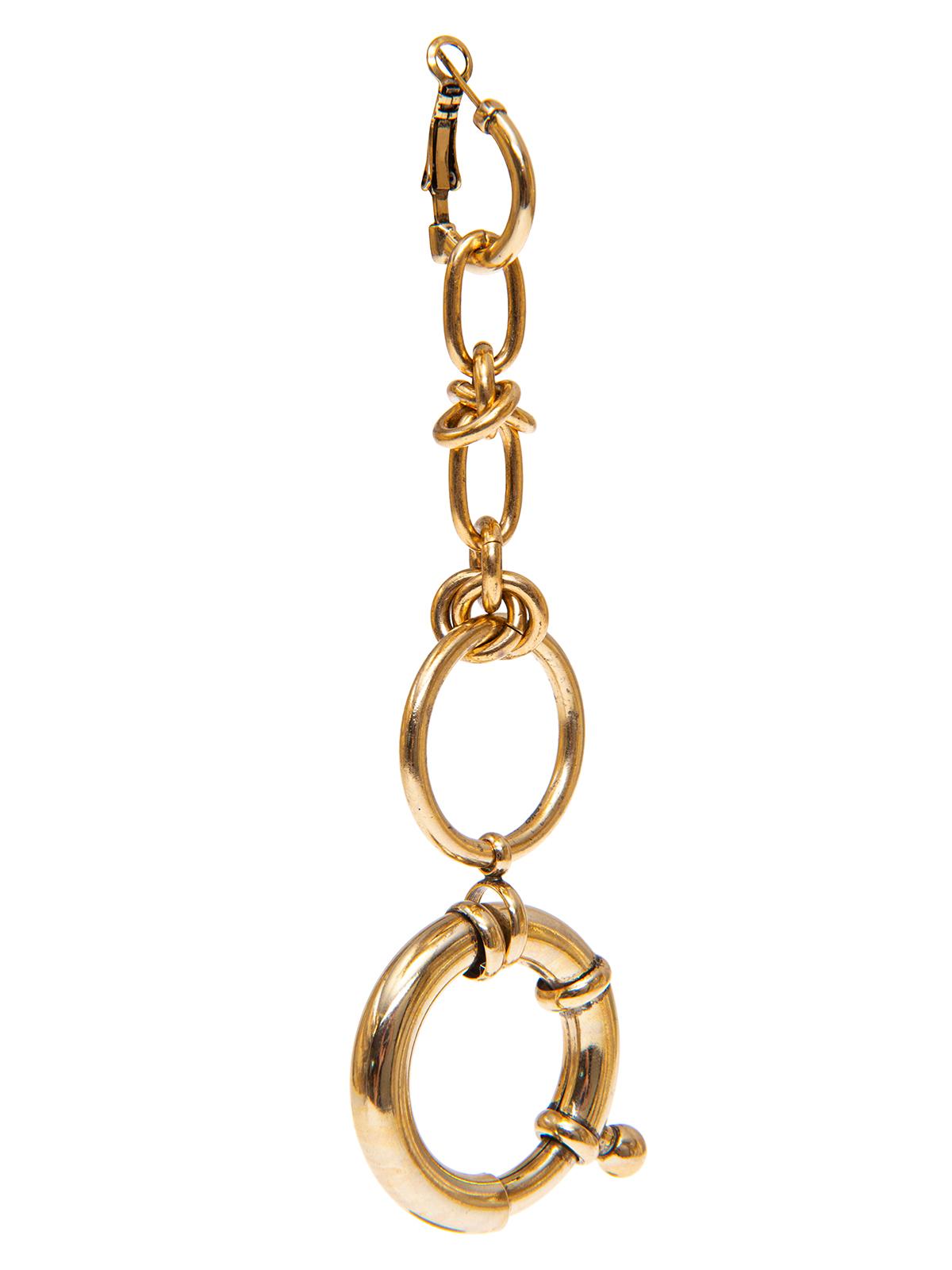 Orecchini combinazione di anelle concatenate e maxi moschettone