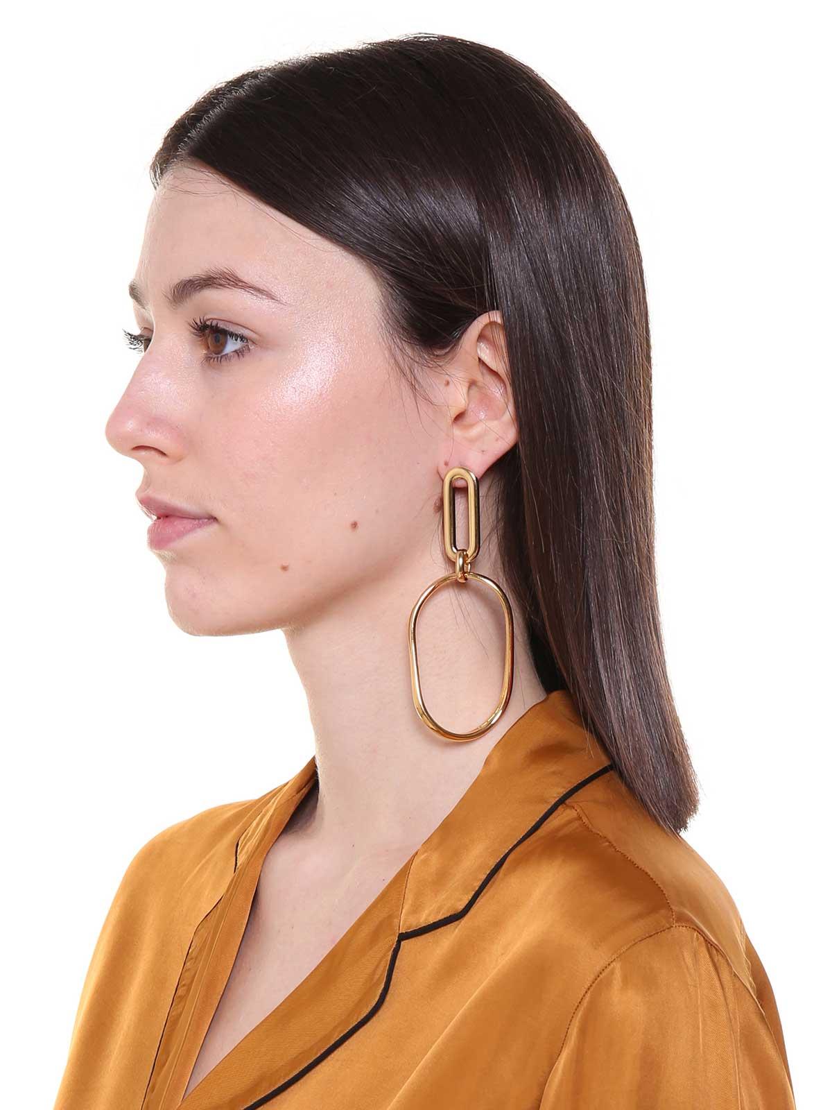Brass oversize chains earrings