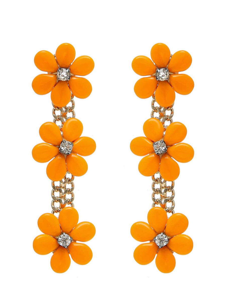 Pendant daisies  earrings