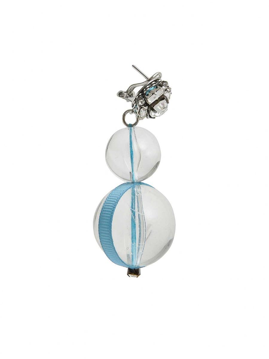 Orecchini con cristalli e perle oversize