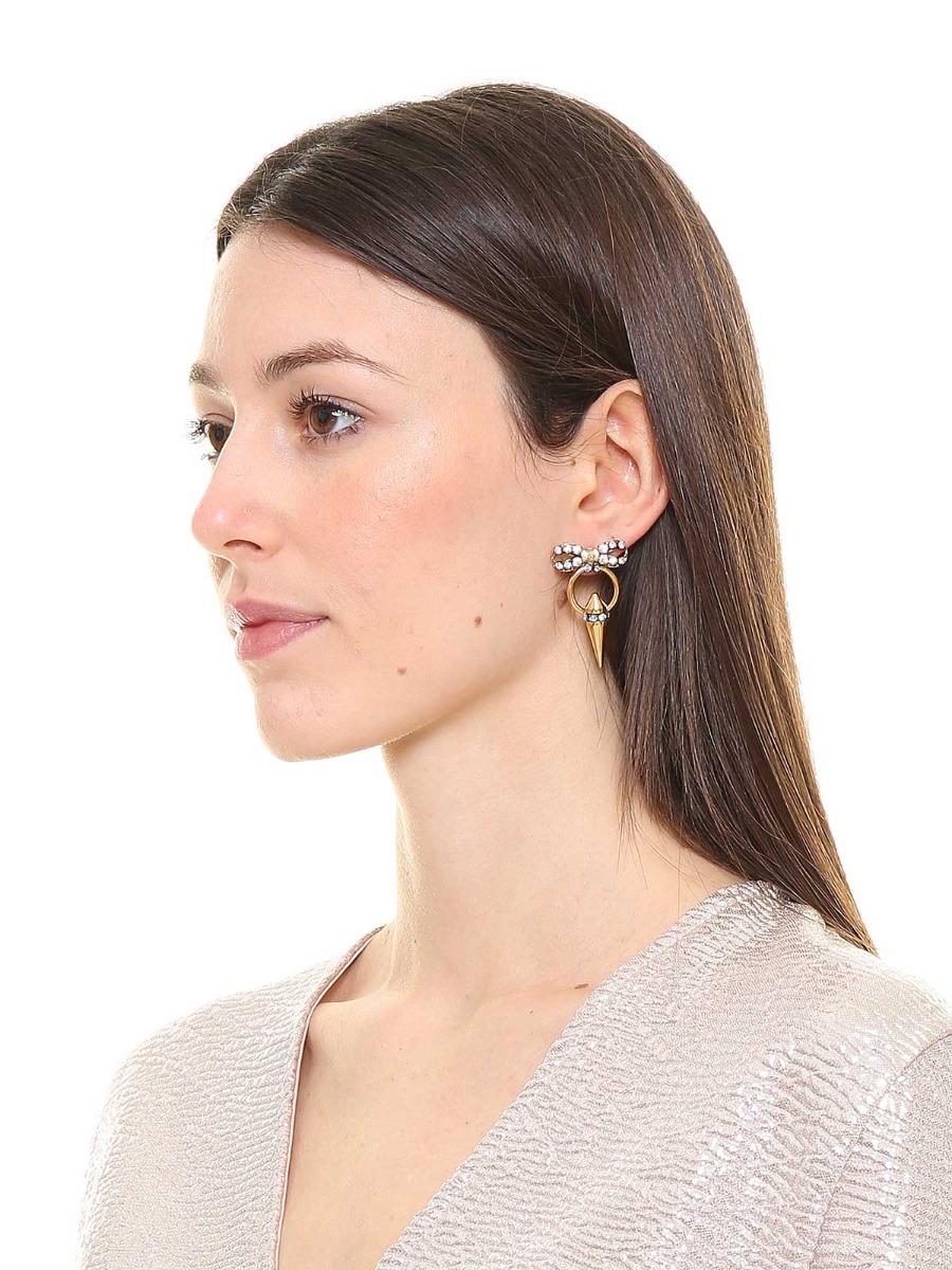 Crystal bow earrings
