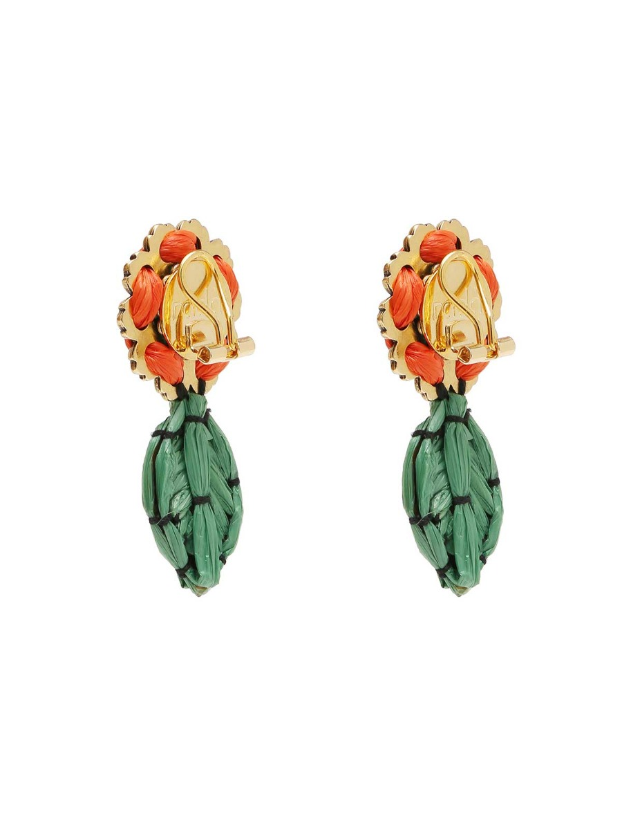 Orecchini floreali multicolor