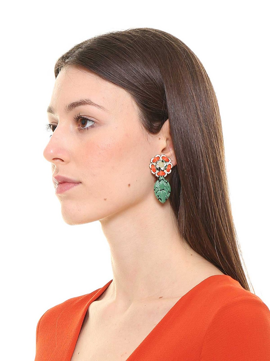 Multicolor floral earrings