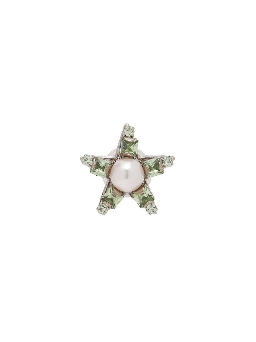 Orecchini a stella con strass e perla