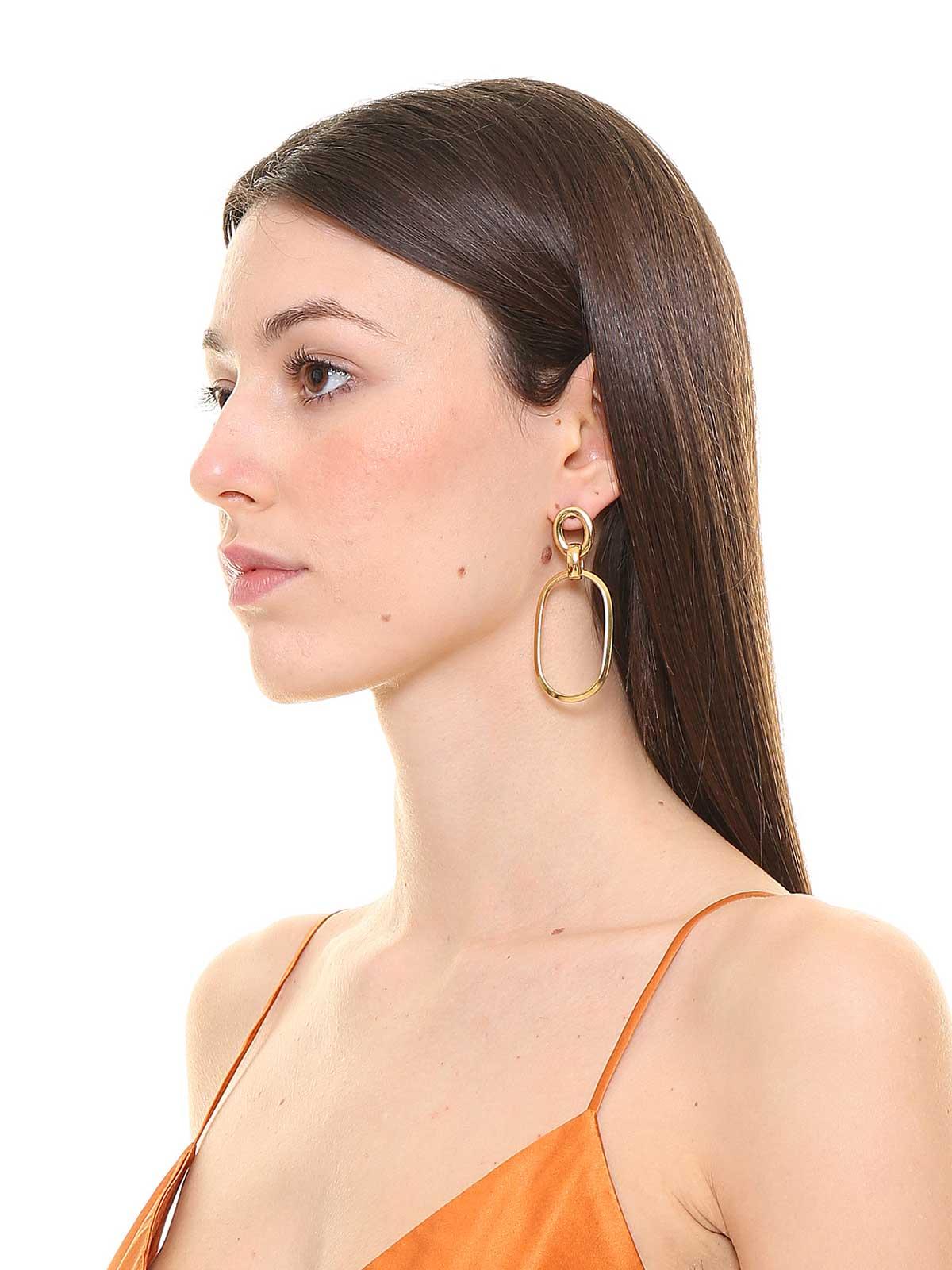 Pendent chain earrings