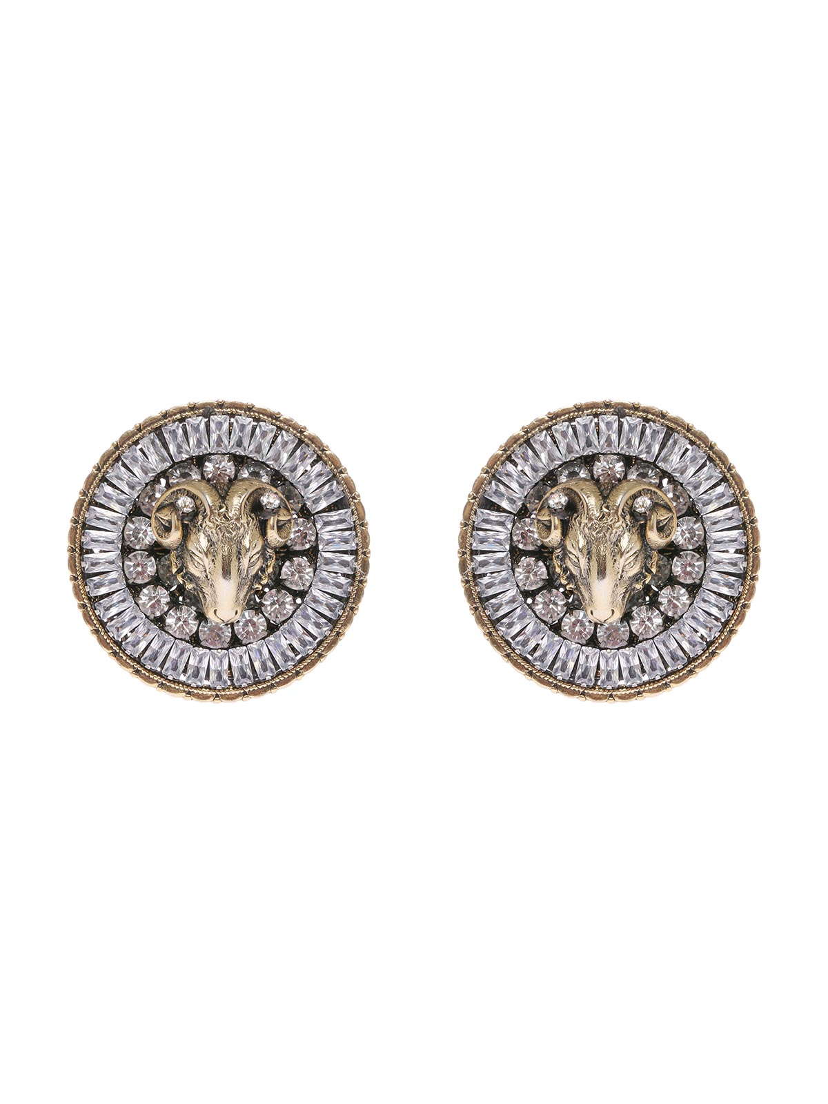 Aries earrings with crystals