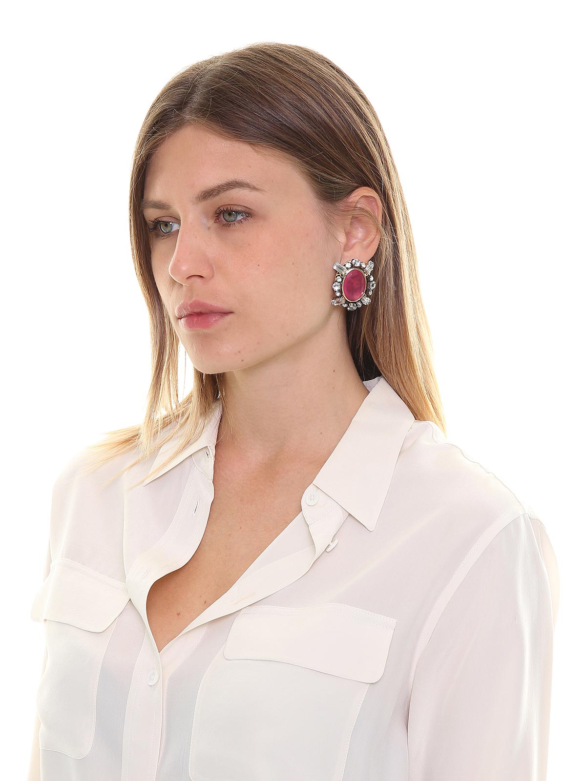 Crystal and stones earrings