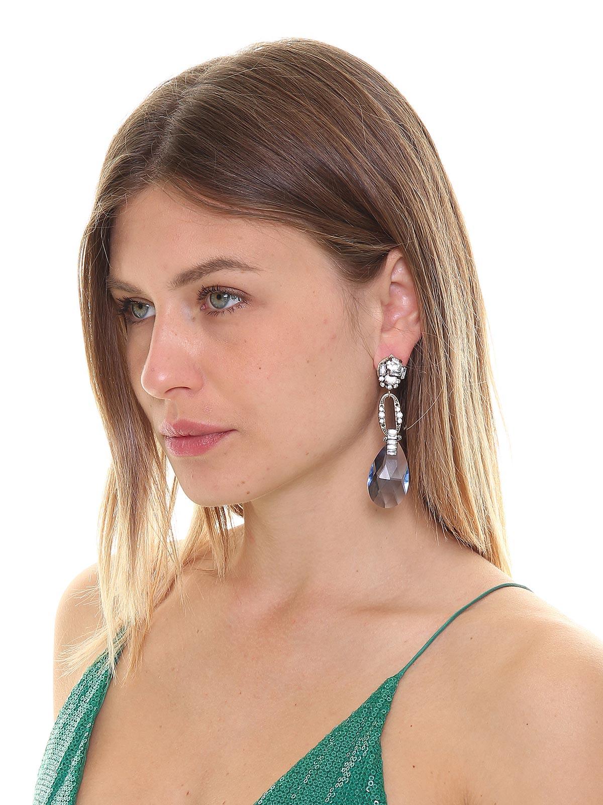 Orecchini di cristalli con pendente a goccia