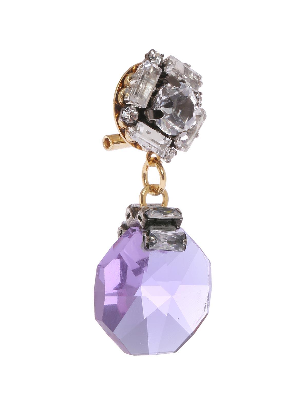 Orecchini di cristalli con pendente gioiello