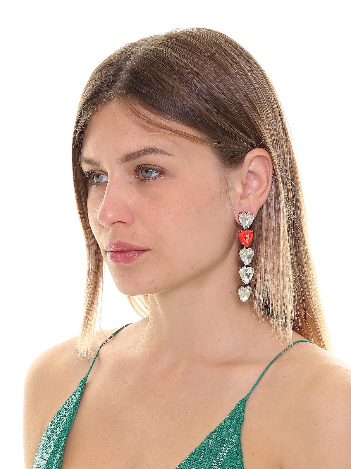 Shiny hearts earrings