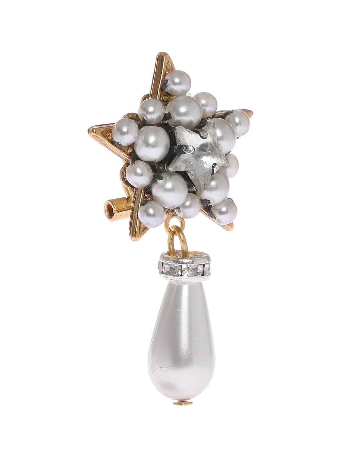 Orecchini a stella con perla goccia