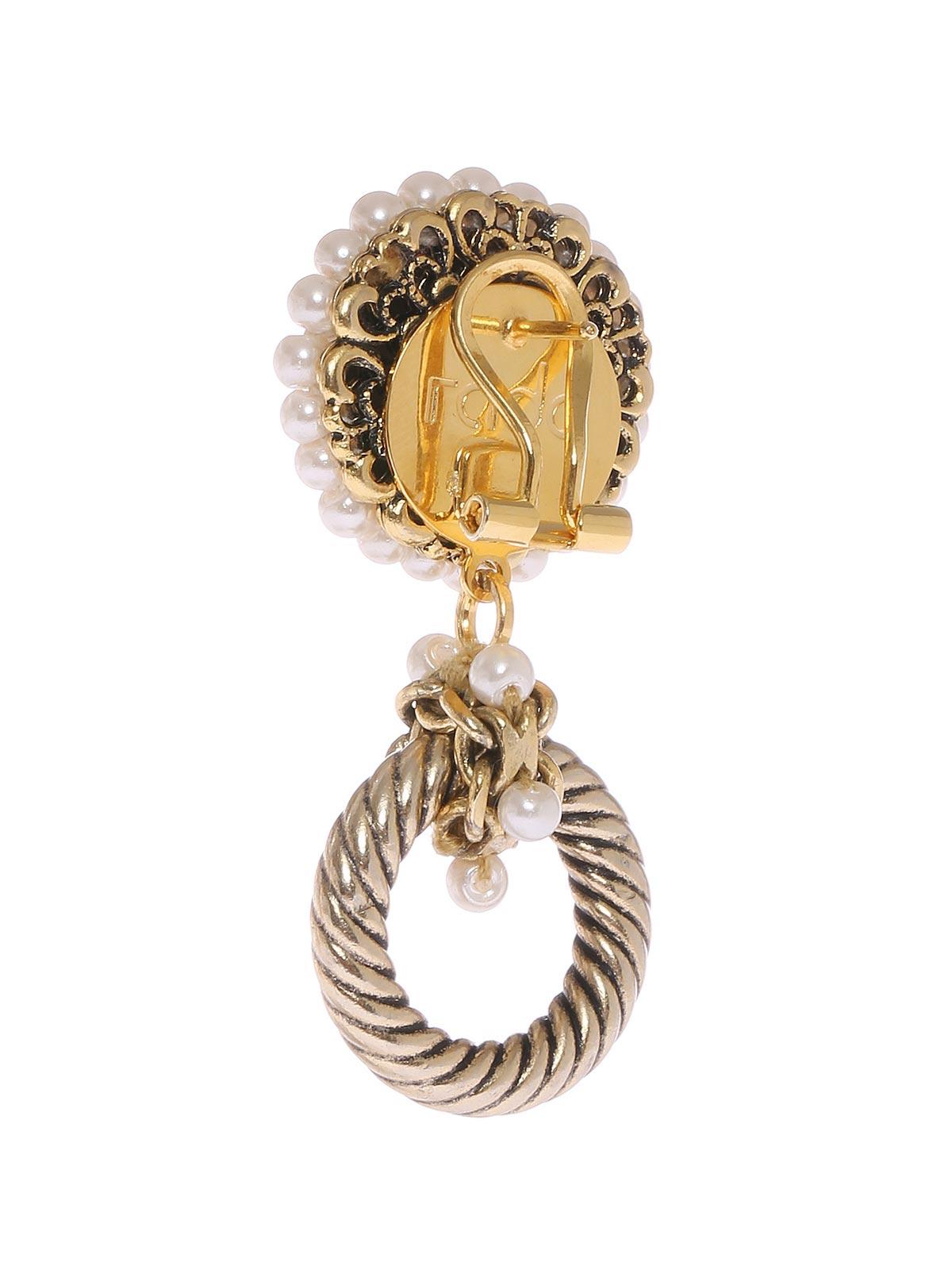 Clip gioiello con anella zigrinata