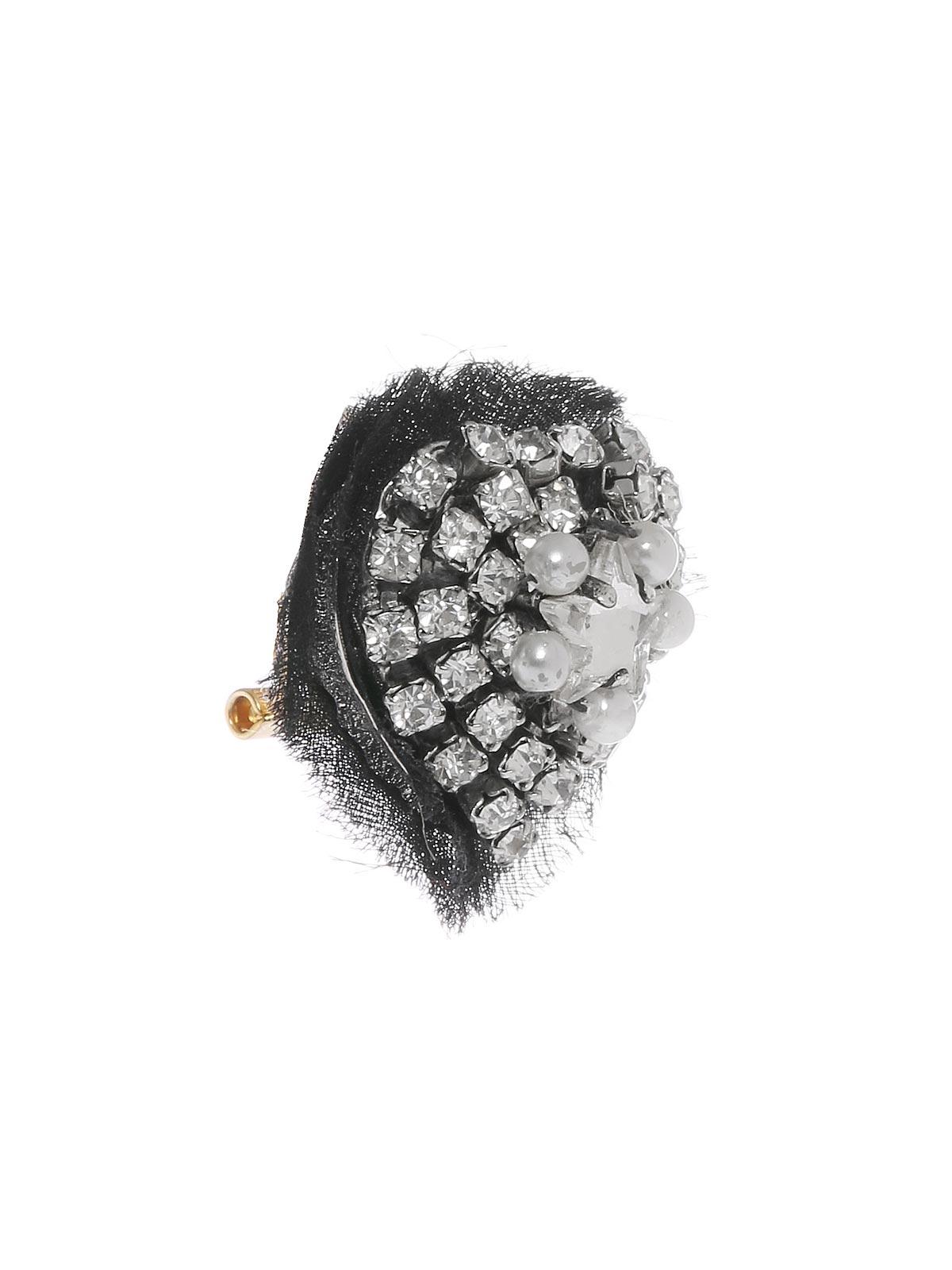 Orecchini cuore di cristalli e perle