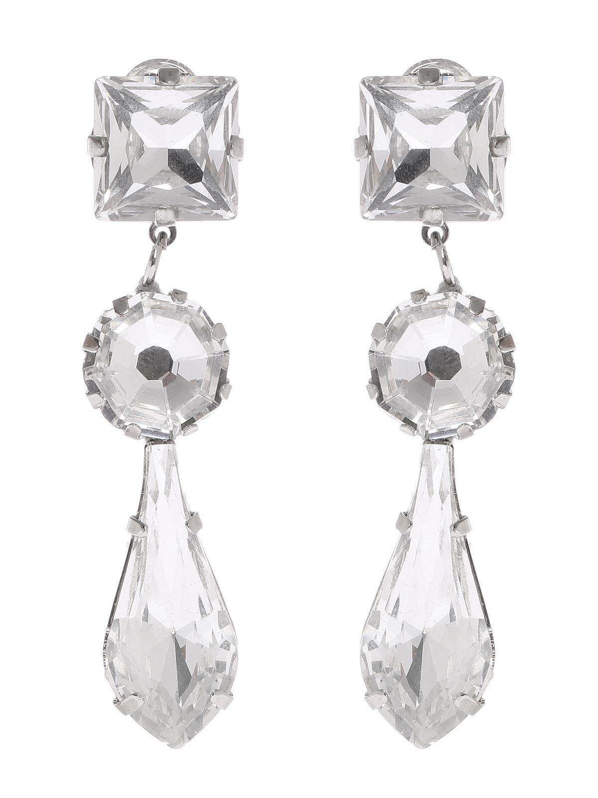 Orecchini pendenti con gocce cristallo