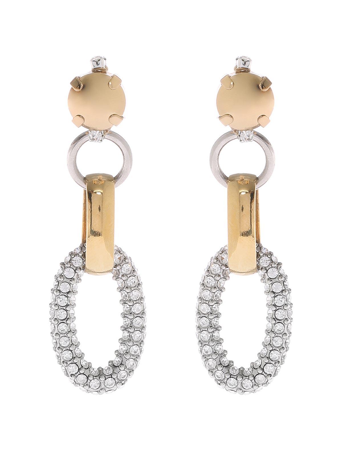 Jewel chain earrings
