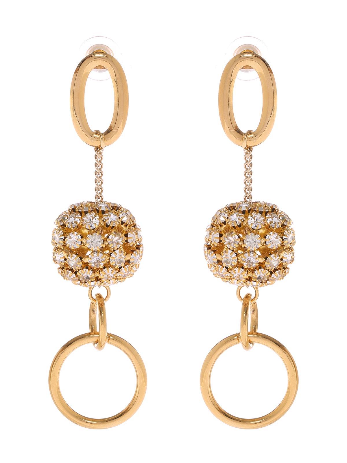 Jewel chain pendant earrings