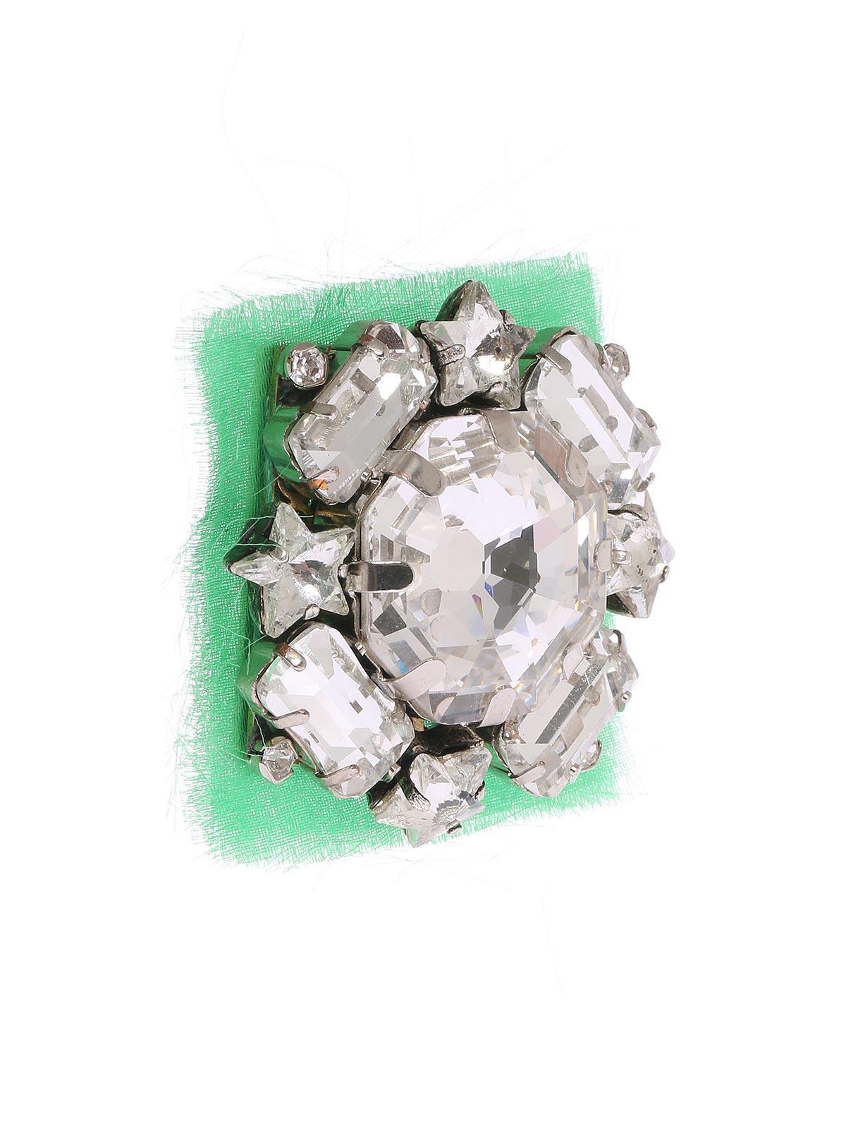 Spilla cristalli e stelle