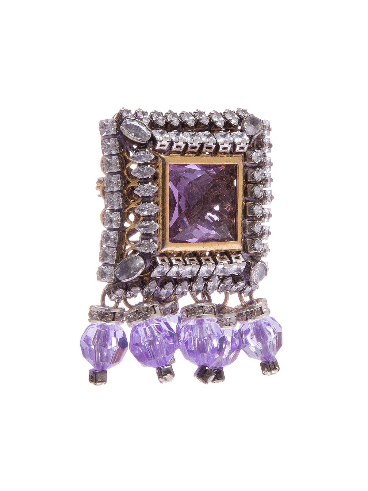Spilla gioiello e perle in plexiglass